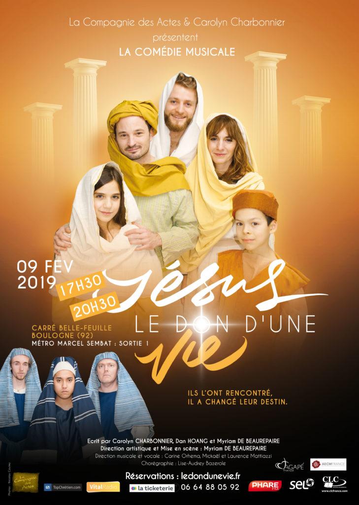 Affiche Comédie Musicale Jésus Le don d'une vie 09/02/2019
