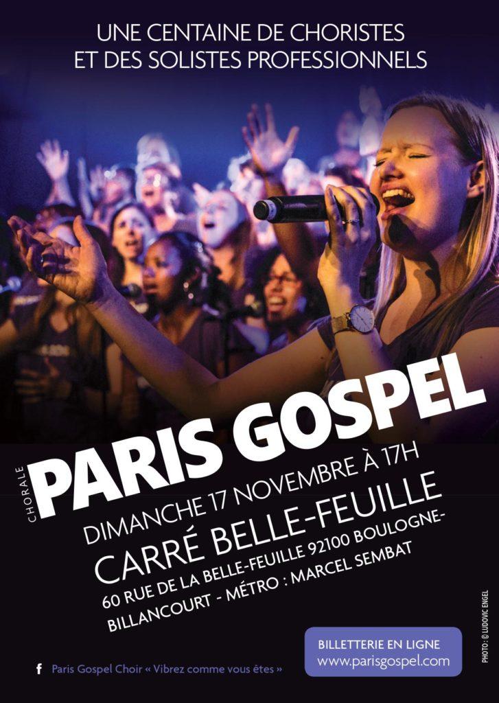 Affiche concert Paris Gospel 11/17/2019